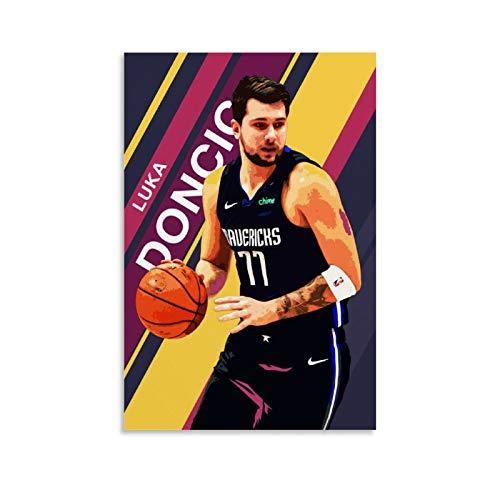 GHRF Luka Doncic NBA - Póster decorativo de lienzo para pared de salón, póster para dormitorio, 60 x 90 cm