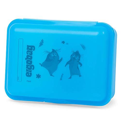 ergobag Brotdose Hula HoopBär, Trennfach für Obst, BPA-frei, Blau