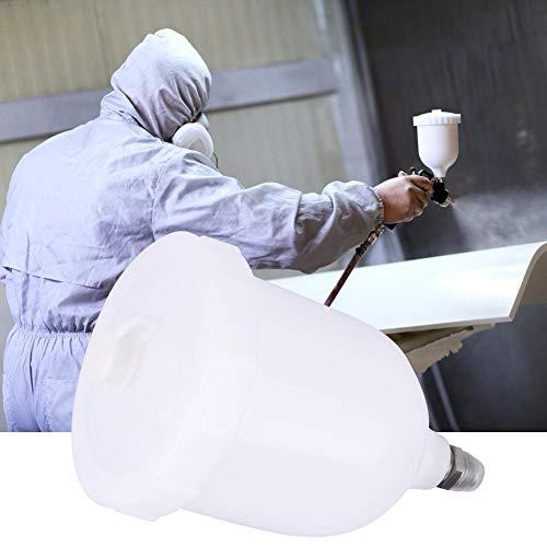 Spritzpistole, Pot Gravity Feed Kunststofffarbbecher für D-evilbiss T-EKNA Pro Pri FLG, 600 ml, für alle Autolack-Grundierungen mit Luftregler-Druckluftwerkzeug
