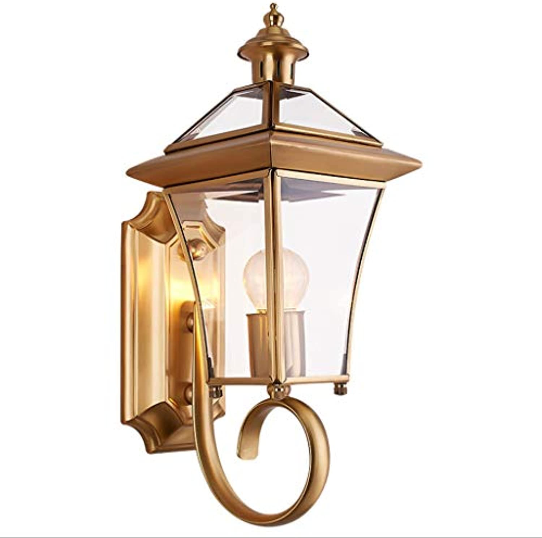 Reeseiy Vintage Kupfer Wandleuchte Einfache Wohnzimmer Schlafzimmer Nachttischlampe Hotel Korridor Dekoration Lampe E27 Lichtquelle (Farbe   Colour-Größe)