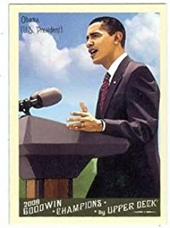 Barack Obama baseball card (President of the United States) 2009 Goodwin Champions #44