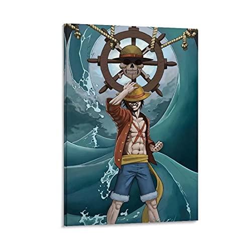 JKLM Póster de una sola pieza de anime dominante de Luffy para la pared de 50 x 75 cm