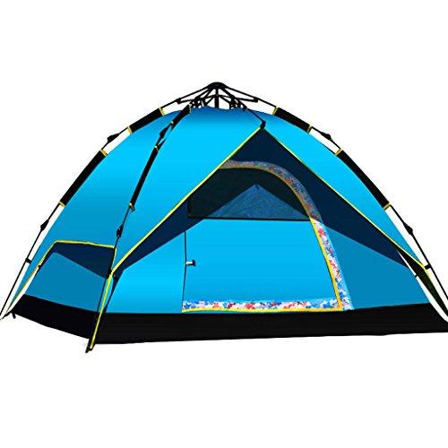 Tente de Camping en Plein air extérieur Gens 3-4 Famille Double Personne Automatique Tente 2 Tente de Camping Pluie Double