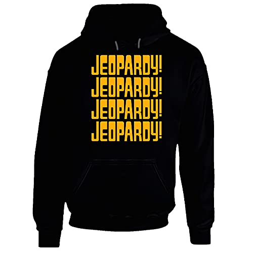 Jeopardy Game Show Tv Hoodie. Negro