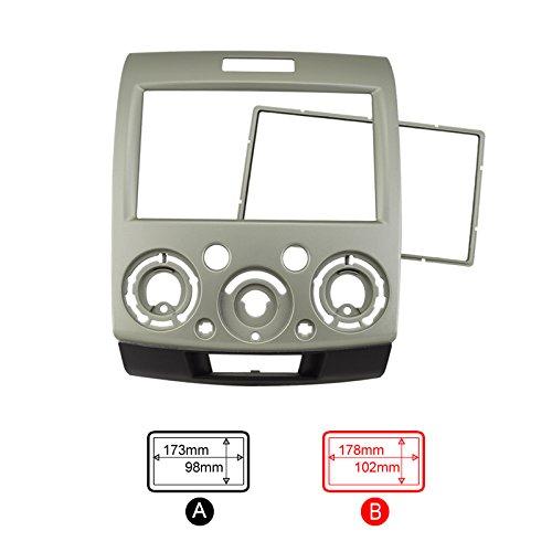 Feeldo Doré 2DIN Voiture Refitting stéréo DVD Cadre Panneau de façade d'autoradio Dash kit d'installation