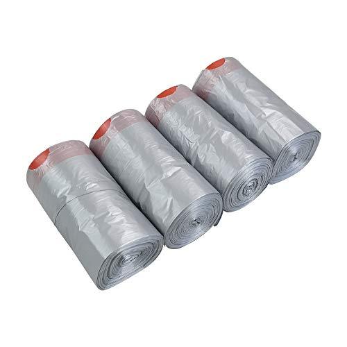 Asking Forros grises para papeleras con cordón de 10 litros, bolsas de basura con cordón, 248 bolsas