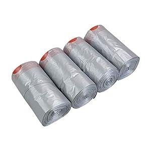 Asking 5 litros de revestimientos grises para contenedores con cordón, 248 bolsas para contenedores con cordón