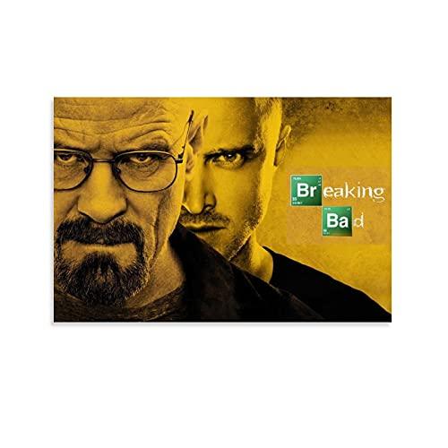 TIBEG Póster de Breaking Bad HD, cuadro decorativo, lienzo para pared, sala de estar, póster para dormitorio, 60 x 90 cm