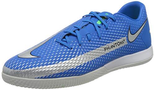 Nike Phantom GT Academy IC, Scarpe da Calcio Unisex-Adulto, Photo Blue/Mtlc Silver-Rage Green-Black, 44 EU