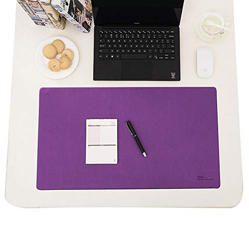 Ashipher Desk Mat,Desk Blotter, Desk Pads & Protector Mouse Pads Polyester Fiber Mat for Desktops and Laptops, 24''x14'' (Purple)