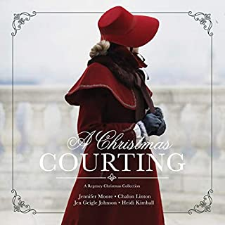A Christmas Courting audiobook cover art