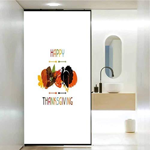 Película de privacidad para ventana de casa, calabaza, sombrero de viajero con CE, película de privacidad para el hogar y la oficina, 45 x 200 cm