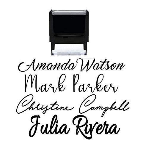 Signature Stamp Customizable Custom Personalized Name Self Inking Stamp Stamp Signature Stamp Personalized Self Inking Stamp Name Stamp