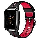 Akwlovy - Reloj de actividad física para hombre y mujer, con GPS integrado, pulsómetro, podómetro, impermeable 5 ATM, pantalla táctil, reloj inteligente con esfera personalizable para Android e iOS