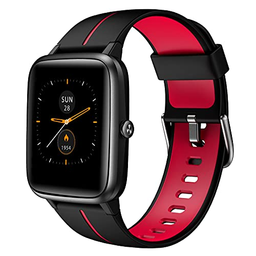 AKWLOVY Smartwatch con GPS Integrado para Mujer, 1.3' Pantalla Táctil Pulsómetro, Monitor de Sueño, IP68 Impermeable con 14 Modos Deporte Pulsera Actividad Inteligente para Android iOS