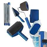 Rodillo De Pintura Conjunto, 8pcs Cepillo Cilíndrico Kit Con Rodillo De Pintura En La Diy Rodillos Para Pintar Paredes Y Techos Profesional Decoración