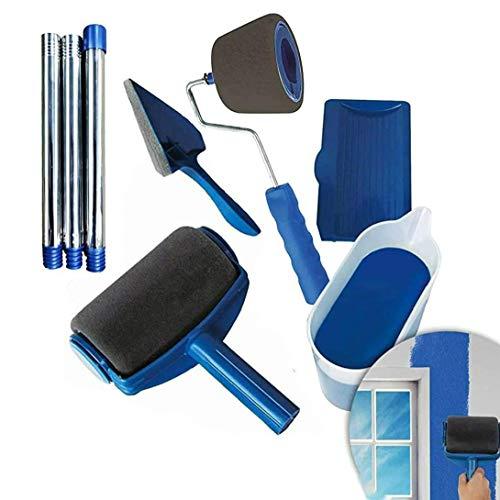 Juego de 8 brochas de pintura con rodillo de pintura y bandeja para pintar paredes y techos, decoración profesional del hogar