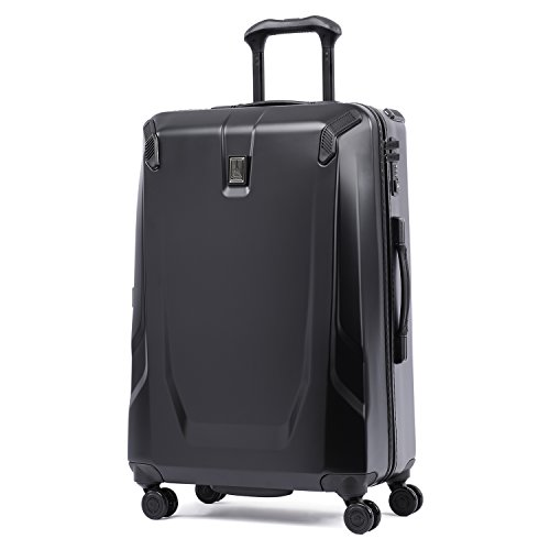 Travelpro Crew 11 - Hardside Luggage with Spinner Wheels, Navy, Checked-Medium 25-Inch