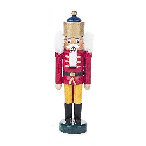 Nussknacker Figur König rot-gelb von DREGENO SEIFFEN 13,5 cm – Original erzgebirgische Handarbeit, stimmungsvolle Weihnachts-Dekoration