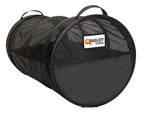 dobar 62400 Walky Tunnel - Riesige -Transportbox für Haustiere im Auto, Faltbare Luxus-Transporttasche für mehrere Hunde und Katzen, Durchmesser 60 x 120 cm, XXL, schwarz