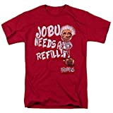 Major League Movie Jobu Needs a Refill T Shirt & Stickers (X-Large) Red