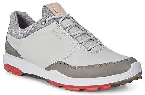 ECCO Biom Hybrid 3 Gore-tex zapatos de golf para hombre, (Hormigón/Escarlata), 40 EU