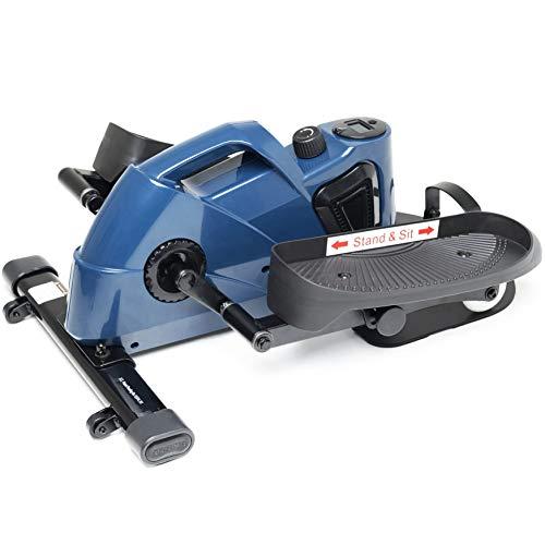 jfit Under Desk & Stand Up Mini Elliptical/Stepper w/Adjustable Angle | The Ideal Fitness & Exercise Equipment For Home| Ideal For Men, Women, Kids & Seniors| Premium Home Gym Equipment