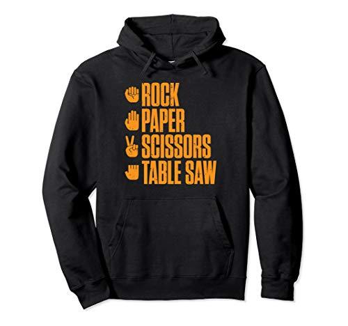 Rock Paper Scissors Table Saw Funny Carpenter Hoodie