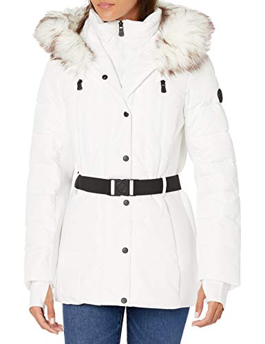 London Fog (LONAG) Women's R420380B93 Down Alternative Coat, White, S