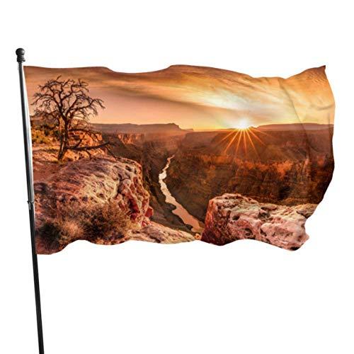 AOOEDM Flag Vistas asombrosas del Gran Cañón Arizona Bandera Decorativa Banderas Decorativas Grandes 3 x 5 pies Colores Vibrantes Calidad Poliéster y Ojales de latón