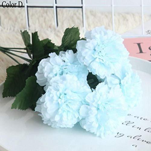 HTRN Nep Bloemen Boeket Decor Kunstmatige 7 hoofd thee rose chrysant zijde bruiloft holding bloemen thuis woonkamer decoratieve nep bloemen Photo rekwisieten