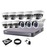 防犯カメラ 11台 DVR 16ch HDD 4TB付き 防犯カメラセット 243万画素 監視カメラ HD-TVI 動体検知 赤外線 防水 スマホ 遠隔監視 屋内 用 8台 屋外 用 3台