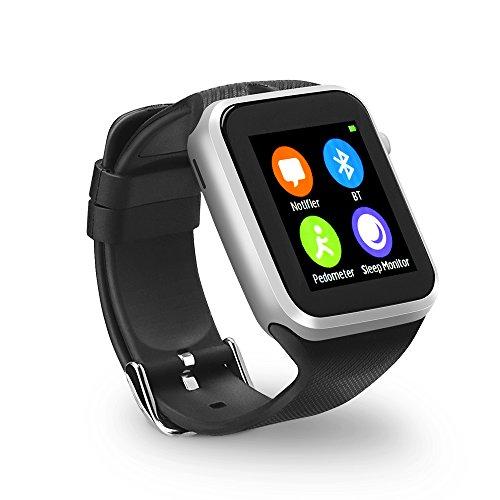 YUNTAB Orologio Bluetooth 4.0 SmartWatch Drow fitness tracker bluetooth smart watch dell'involucro del polso orologio cellulare con Touch Screen per iPhone Samsung HTC LG Android carta smartphone Phone SIM
