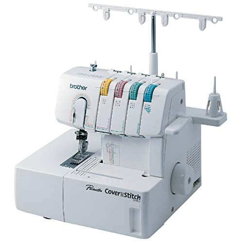 Brother, 2340CV, Cover, Advanced Serger, Color-Coded Threading Guide, Dial Stitch Length, Presser Foot Pressure Adjustment, 1,100 Per Minute, White