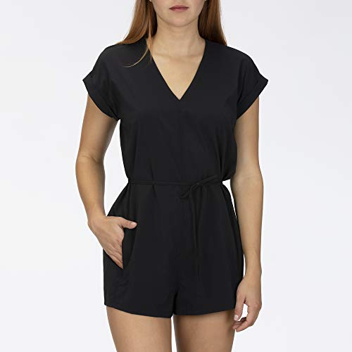 Hurley W Coastal Romper SS Robes Femme Black FR: S (Taille Fabricant: S)