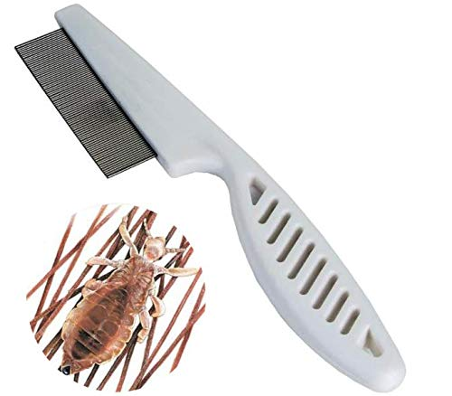 Frackson 1 Pcs Nit Comb Plastic Stainless Steel Lice Treatment Comb For Head Lice/Lice Egg Removal Comb For Men,Women,Boy,Girl(Multicolor)