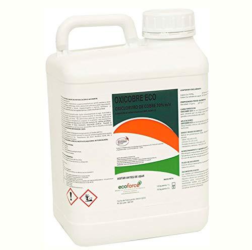 CULTIVERS ECO10F00046 Oxicloruro de Cobre de 5 l Concentrado al 70% Ecológico (Acción Fungicida). Abono para Topo Tipo de Plantas y árboles. Fertilizante 100% Natural a Base de Cobre. Oxicobre Eco