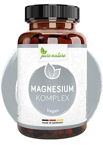 Magnesium hochdosiert Kapseln 7in1 KOMPLEX 400mg mit 7 organischen Formen I 180 Kapseln I Höchste Bioverfügbarkeit I MADE IN GERMANY rein OHNE Zusätze I LABORGEPRÜFT & vegan