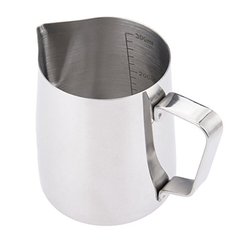 1pcs Stainless Steel Espresso Art Coffee Milk Frothing Pitcher Steaming Milk Jug Foam Container 350ml