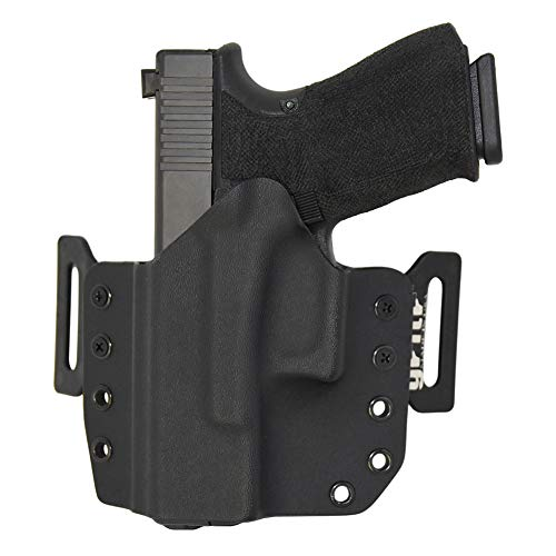 GRITR Holsters Universal Holster for Glck 17, 19, 22, 23, 26, 27, 31, 32, 33 (Gen 1-5) - OWB Holster - Outside The Waistband, Made in USA,KYDEX, Left Hand