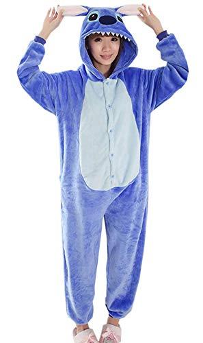 Y-BOA 1Pc Pyjama Combinaison Coton Femme Taille S Forme, Bleu, Taille S