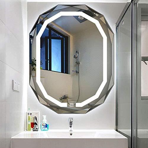 Pursue Cuarto de baño Iluminado LED Espejo con luz de Vanity Light Touch Sensor Interruptor Espejo de baño Espejos LED (Size : Vertical|White Light)