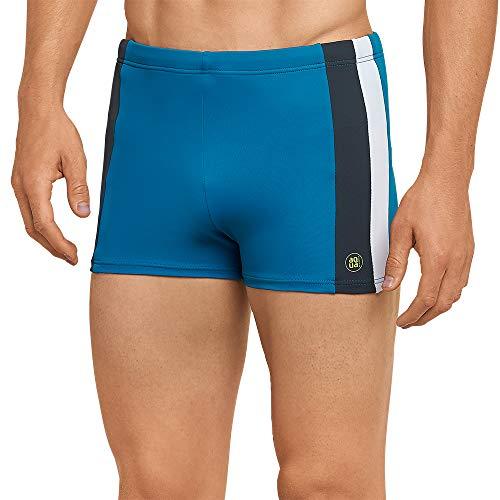 Schiesser Herren Aqua Bade-Retro Shorts, Blau (Petrol 811), Large (Herstellergröße: 006)