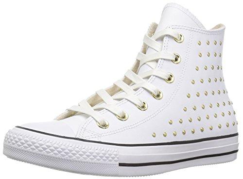 Converse Damen CTAS Hi Fitnessschuhe, Weiß (White/White/Gold 102), 41 EU