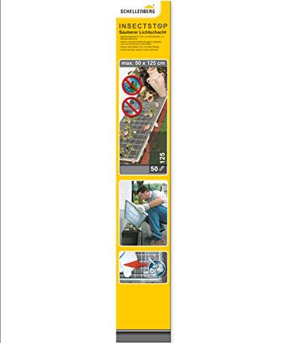 Schellenberg 50355 Sauberer Lichtschacht Schutz-Gewebe aus Aluminium (50x125 cm)