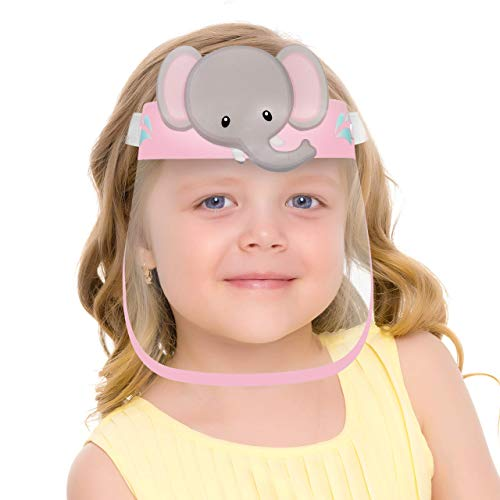 [ US STOCK ]CUTE SMALL KIDS SIZE FACE COVER MASK WITH CLEAR VISOR ELASTIC BAND &CONFORT SPONGE ANTI SUN UV/DUST/SPLASH/SPITTING REUSABLE FOR CHILDREN,GIRLS,BOYS,TODDLERS,KID,OUTDOOR SCHOOL ACTIVITIES