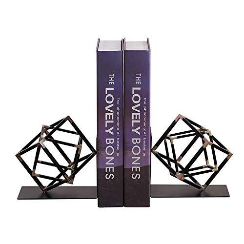 BXU-BG Nordic creativo espacio minimalista del cubo del metal sujetalibros Adornos Modelo de habitaciones sujetalibros Libros Libros por Soft Mobiliario Instalado 135 * 120 * 125 mm elegante y hermosa
