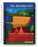 Ton Schulten - Buchkalender Deluxe 2021 - Kalenderbuch A5 - Taschenkalender - teNeues-Verlag - Taschenplaner mit Spiralbindung - 17 cm x 22 cm - Kunstkalender