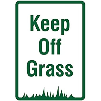 Amazon Com Keep Off Grass Signs Do Not Walk On Lawn Sign Office Products