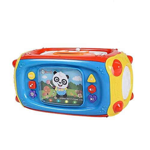 NextX Baby Musical Player Actividad de aprendizaje para niños pequeños con micrófono, 41 canciones y luces - Gran regalo para niños y niños, niños y niñas